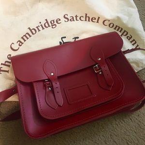 Cambridge Satchel Company 14 inch red
